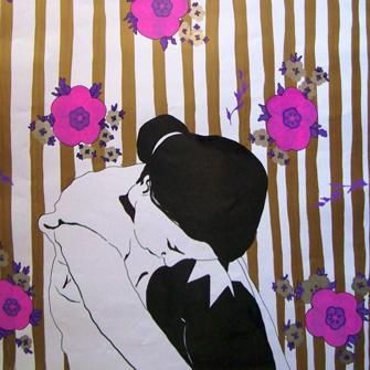 Са изложбе Марте Ђекић; Жена, сликарка, домаћица, Меланхолија,  Галерија Степениште  2011.